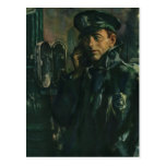 Vintage Business, Policeman on Emergency Phone Post Card