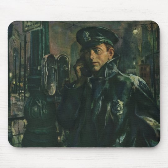 Vintage Business, Policeman on Emergency Telephone Mouse Pad