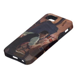 Vintage Business, Projectionist in a Movie Theater iPhone 5 Case