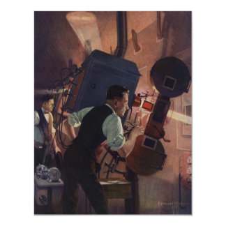 Vintage Business, Projectionist in a Movie Theater Custom Announcements