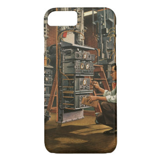 Vintage Business Radio Technician Fixing Equipment iPhone 7 Case