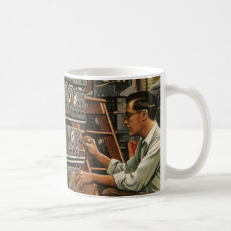 Vintage Business Radio Technician Fixing Equipment Mugs