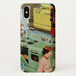 Vintage Business Retail, Appliance Showroom Store iPhone X Case