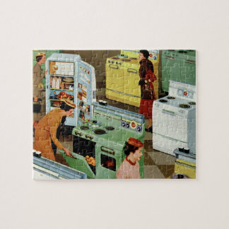 Vintage Business Retail, Appliance Showroom Store Jigsaw Puzzle