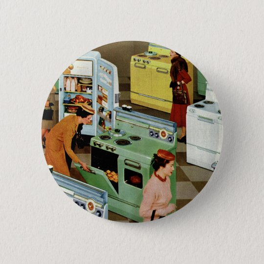 Vintage Business Retail, Appliance Showroom Store Pinback Button