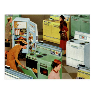 Vintage Business Retail, Appliance Showroom Store Postcard