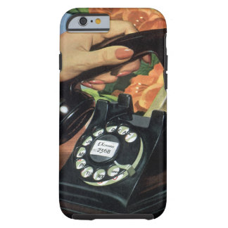 Vintage Business, Rotary Dial Phone Woman Hand iPhone 6 Case