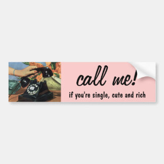 Vintage Business, Rotary Dial Telephone Car Bumper Sticker
