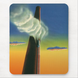 Vintage Business, Steam Whistle Factory Factories Mouse Pad