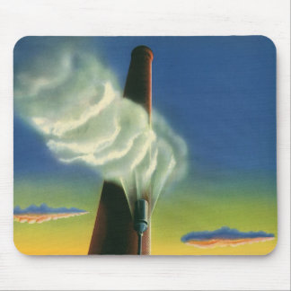Vintage Business, Steam Whistle Factory Sunrise Mouse Pad