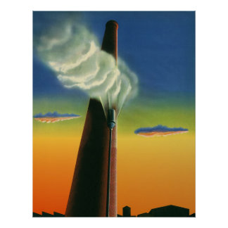 Vintage Business, Steam Whistle Factory Sunrise Poster