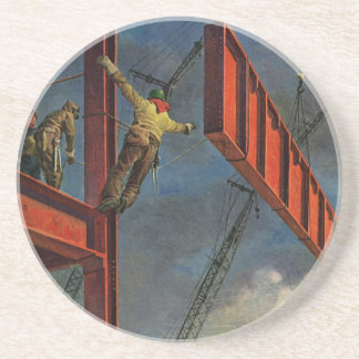 Vintage Business, Steel Construction Workers Coaster