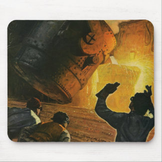 Vintage Business, Steel Manufacturing Industry Mouse Pad