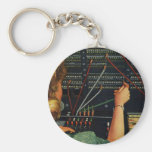 Vintage Business, Switchboard Operator Occupation Basic Round Button Keychain