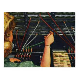 Vintage Business, Switchboard Operator Occupation Personalized Invites