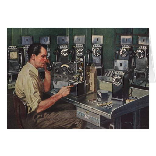 Vintage Business, Telephone Pay Phone Repairman Card