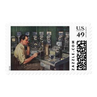 Vintage Business, Telephone Pay Phone Repairman Stamp