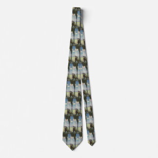 Vintage Business, Workers with Gushing Oil Well Neck Tie