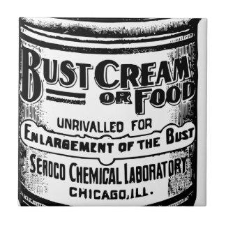 Vintage Bust Cream Advertisement Tile