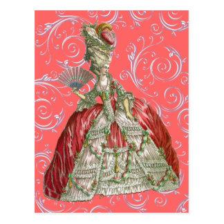 Vintage Bustled Woman Post Cards