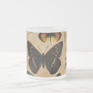 Vintage Butterfies and Moths (2).jpg Frosted Glass Coffee Mug