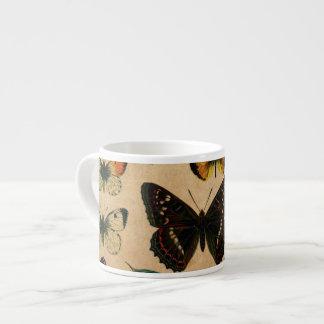 Vintage Butterfies y polillas (2).jpg Taza Espresso