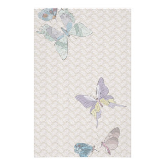 Vintage Butterflies and Lace Stationary Stationery Paper