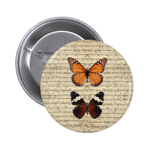 Vintage butterflies collection 2 inch round button