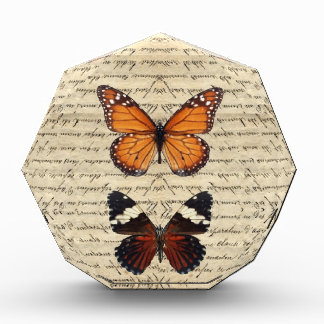 Vintage butterflies collection acrylic award