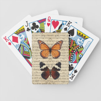 Vintage butterflies collection bicycle playing cards