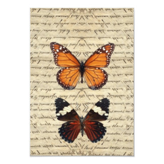 Vintage butterflies collection card