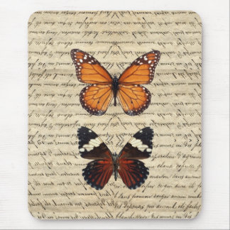 Vintage butterflies collection mouse pad