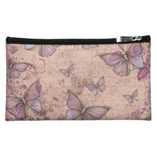 Vintage Butterflies Cosmetic Case Makeup Bags