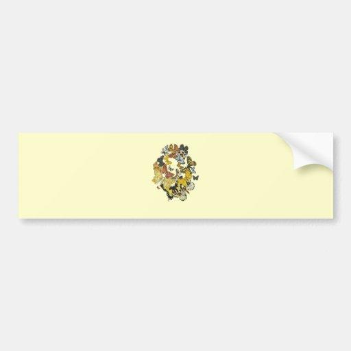 Vintage Butterflies Decoupage Bumper Sticker