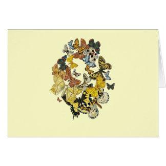 Vintage Butterflies Decoupage Card