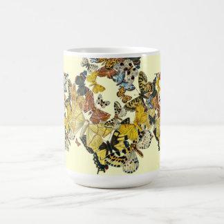 Vintage Butterflies Decoupage Coffee Mug