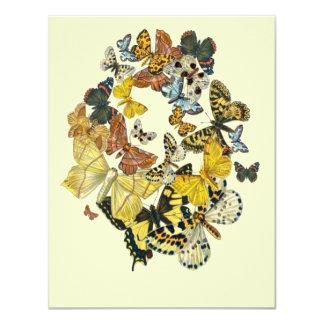 Vintage Butterflies Decoupage 4.25x5.5 Paper Invitation Card