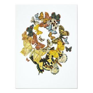 Vintage Butterflies Decoupage 5.5x7.5 Paper Invitation Card