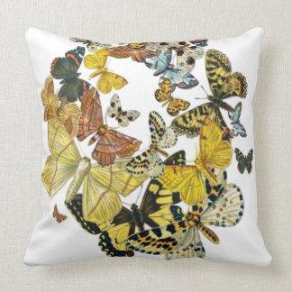Vintage Butterflies Decoupage Throw Pillow