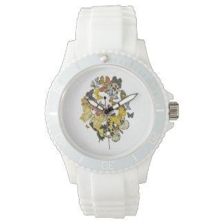 Vintage Butterflies Decoupage Watches