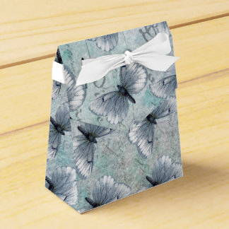 Vintage Butterflies French Grunge Favor Box