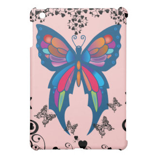 vintage butterflies hearts on pink  case for the iPad mini