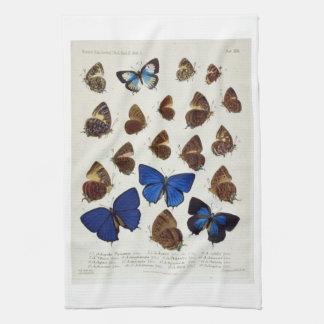 Vintage Butterflies Illustration Print Hand Towel