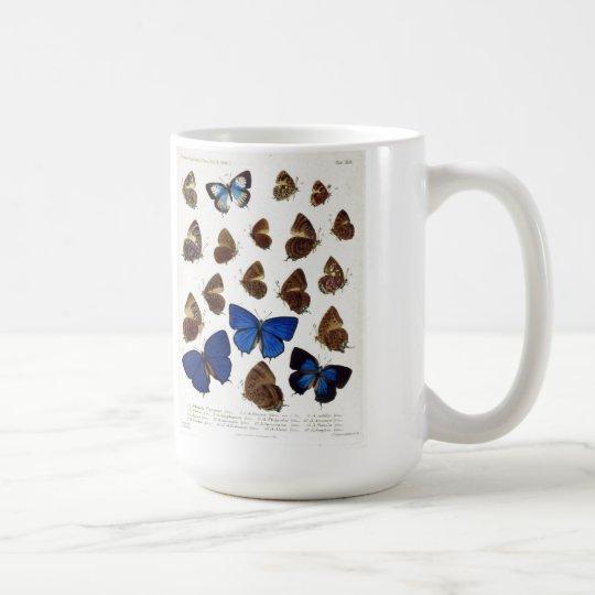 Vintage Butterflies Illustration Print Mug