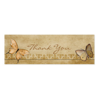 Vintage Butterflies Thank You Note Business Cards
