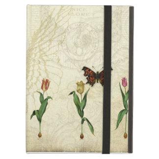 Vintage Butterfly Angel Wings Tulip Swirl Monogram iPad Cover