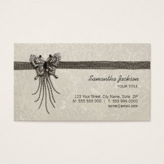 Vintage Butterfly Antique Jewelry business card
