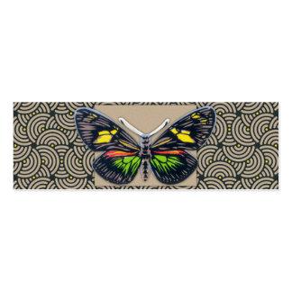 Vintage Butterfly Art Mini Business Card