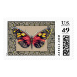 Vintage Butterfly Art Postage Stamp