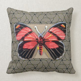 Vintage Butterfly Art Throw Pillows